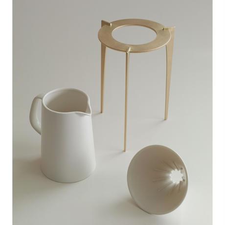 Coffee Dripper & Stand Set  Ceramic
