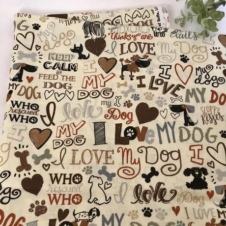 入荷しました USコットン I Love  Dog