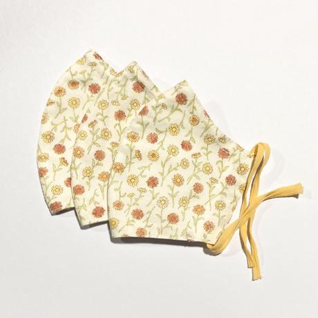ノーズワイヤー&ポケット付き♡立体マスク flower vitamin color