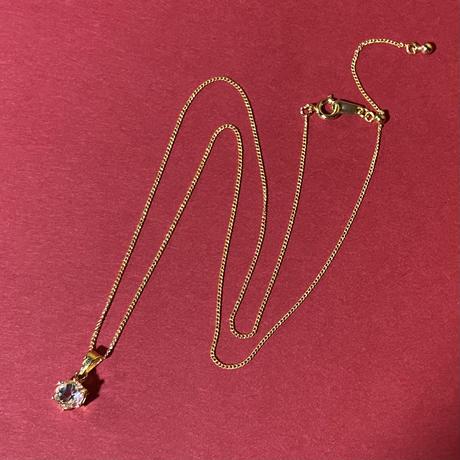 宝石質天然石ホワイトトパーズのネックレス
