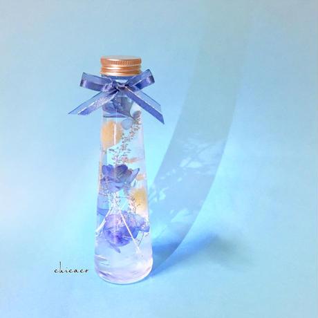 💙ハーバリウム フラスコボトル blue cyan