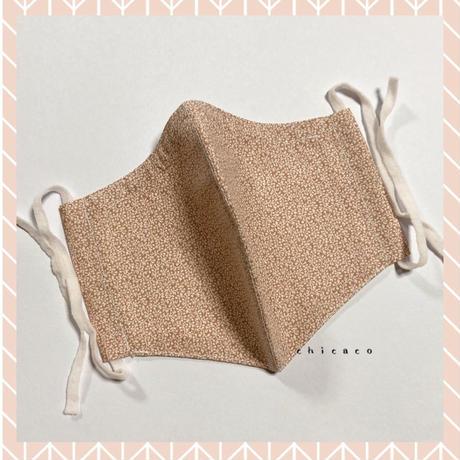 ノーズワイヤー&ポケット付き♡立体マスク botanical pinkbeige
