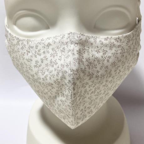 ノーズワイヤー&ポケット付き♡立体マスク botanical greige
