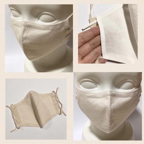 ノーズワイヤー&ポケット付き♡立体マスク botanical beige