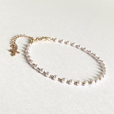【耳の痛みを軽減】2way♥ミニパールのマスクフック pink gold