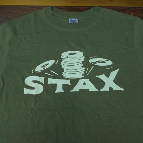 スタックス・レコード クラッシックロゴTシャツ オリーブ