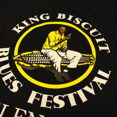 キングビスケット・ブルースフェスティバル ロゴTシャツ ネイビー