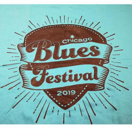 2019シカゴブルースフェスティバル Tシャツ シーブルー