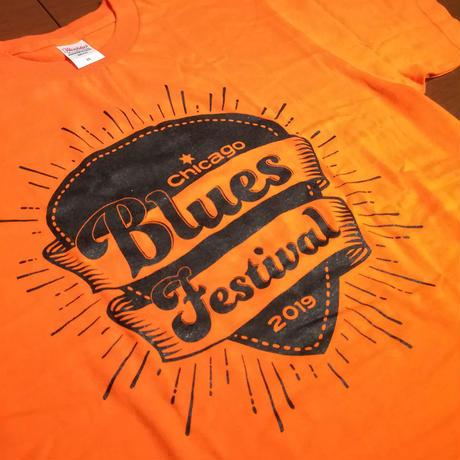 2019シカゴブルースフェスティバル Tシャツ オレンジ