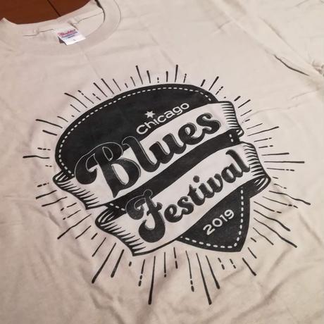 2019シカゴブルースフェスティバル Tシャツ シルバーグレー