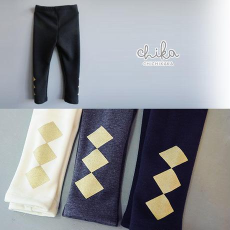 【SALE】 (CA4WMPT01) chichikaka シンプルジーモ ダイヤレギンス navy/Glay/Ivory 定価2990円⇒