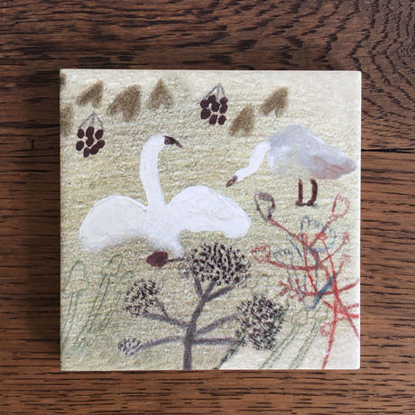 "Laura Carlin tile ""Swans"""
