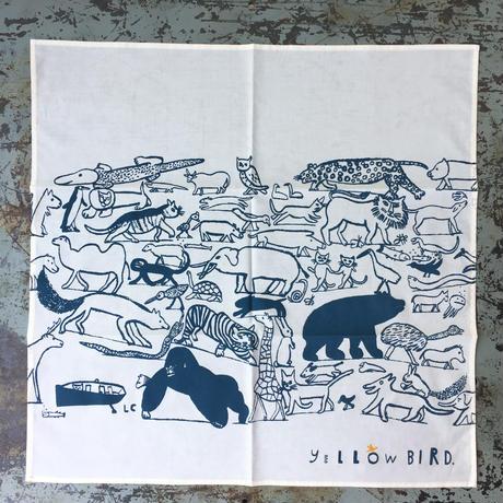 Laura Carlin  ハンカチ Animal marching
