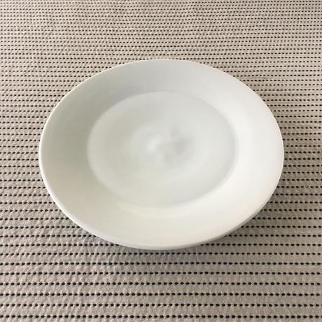 五十嵐元次 白磁 7寸皿