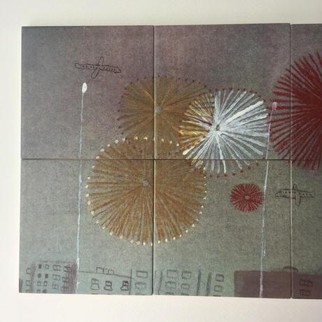 "Laura Carlin tiles ""Fireworks"""