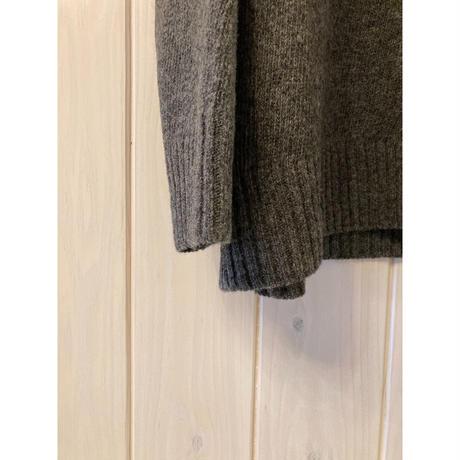 英国羊毛 オーバーニット