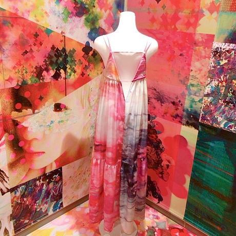 ティアードクレープキャミワンピ 「10月のひとひら桜」