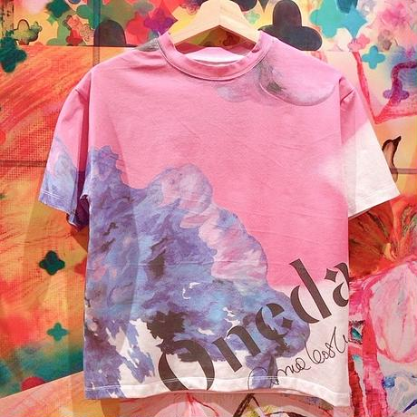 ベーシックTシャツ「Blue petals」