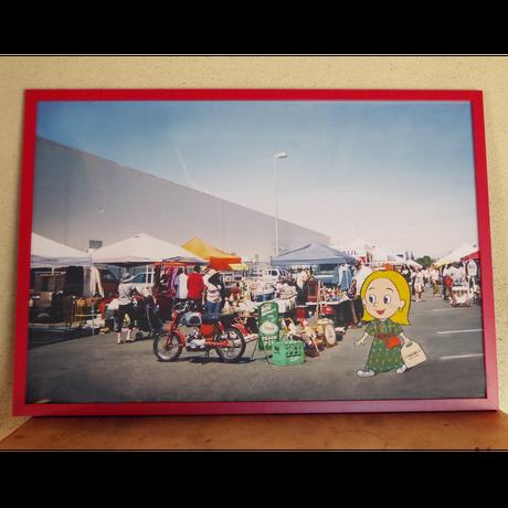 """""""Long Beach Antique Market"""" Framed Art Print"""