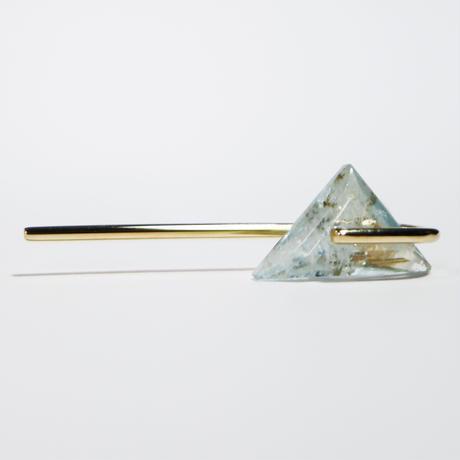 Line / Pierced Earrings Aquamarine   ピアス(single)