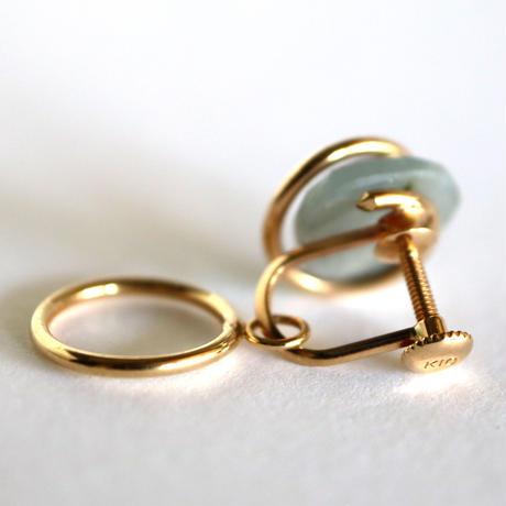 Circle / Clip on Earring   Sapphire イヤリング (single)