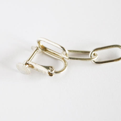 Chain / Silver  Clip on Earrings イヤリング (左耳用)