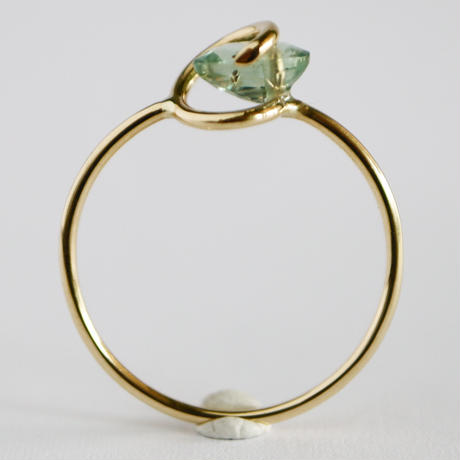 Circle ring /  Aquamarine