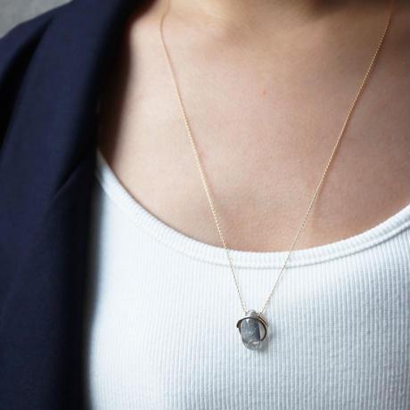 Circle / Necklace   Bicolor tourmaline 2