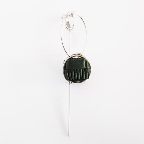 Ripple / Clip on Earring Khaki イヤリング(single)