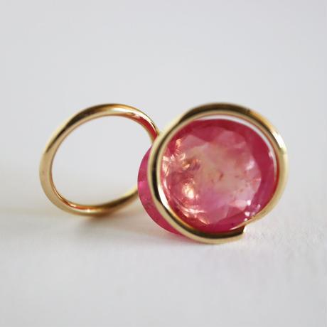 Circle / Pierced Earring  Ruby2  ピアス(single)