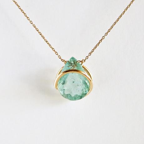 Circle / Necklace  Aquamarine