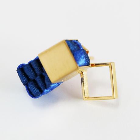 Cube / Pierced Earring Blue ピアス