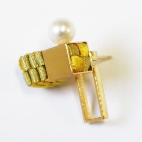Cube / Pierced Earring Gold ピアス