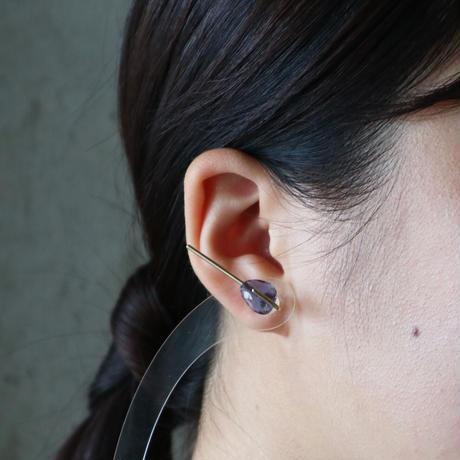 Line / Pierced Earrings    Lolite  (single)  ピアス