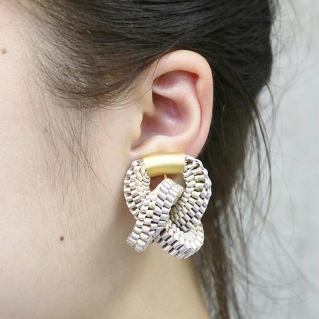 Klein bottle  / Clip on  Earring Beige イヤリング