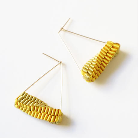Triangle/  Pierced Earrings Gold  ピアス