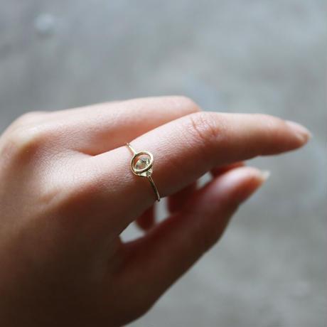 Circle ring / Green Tanzanite