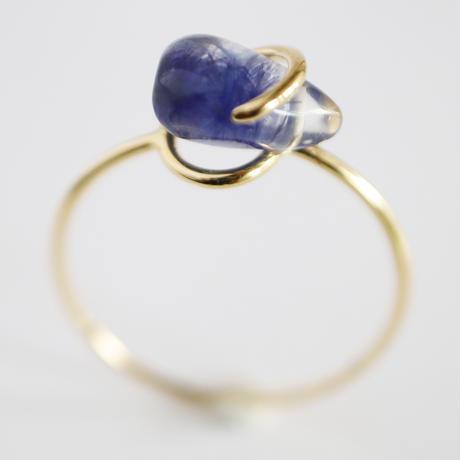Circle ring / Dumortierite