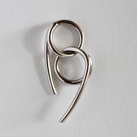 Chienowa / Pierced Earring Silver ピアス(右耳用)