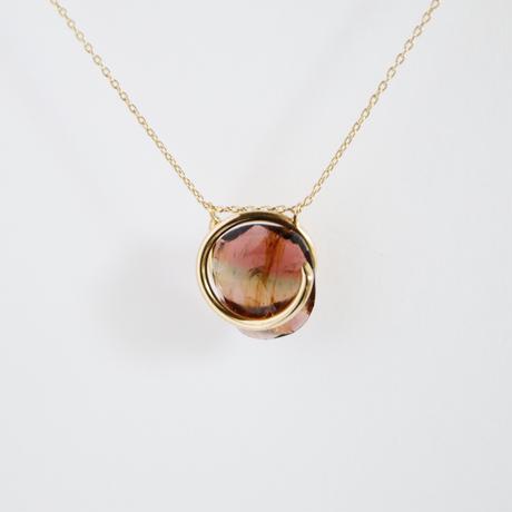 Circle / Necklace  Tourmaline