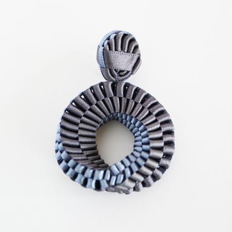 Mobius /  Pierced Earrings    Charcoal ピアス