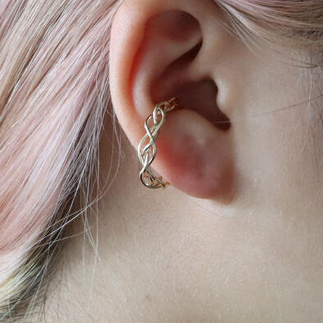 Diamond Weave / Ear cuff & Ring