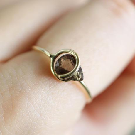 Circle ring / Color change Garnet