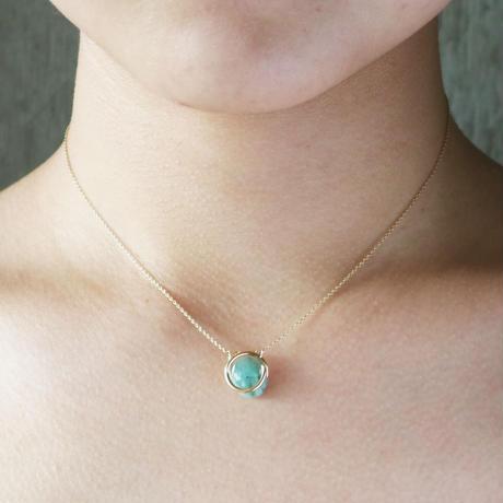 Circle / Necklace  Emerald