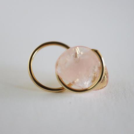 Circle / Pierced Earring  Morganite  ピアス(single)