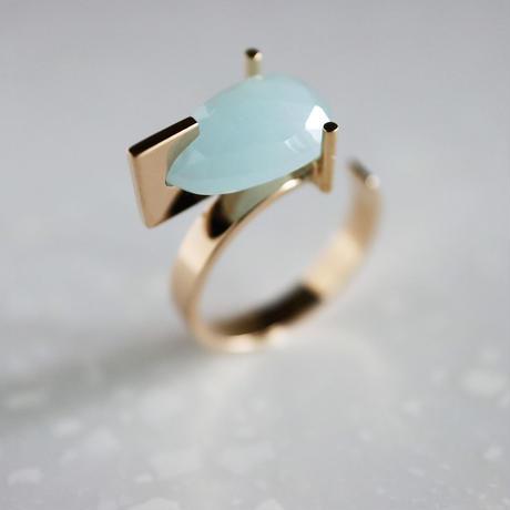 T ring / Aquamarine