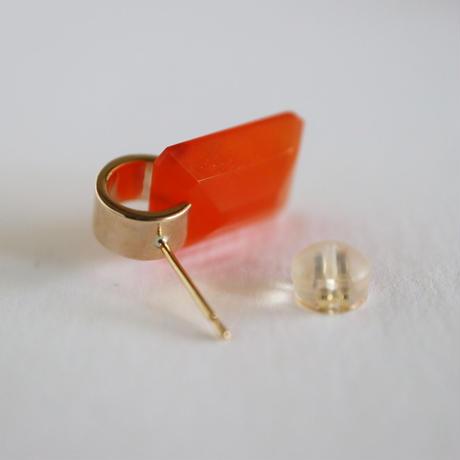 Ruffle  / Pierced Earrings    Carnelian ピアス (ペア)
