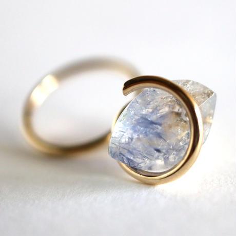 Circle / Pierced Earring  Dumortierite  ピアス(single)