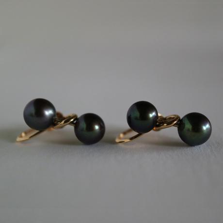 Pendulum /Clip on Earrings  K10  Black イヤリング