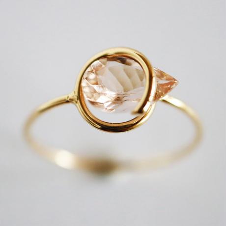 Circle ring / Morganite